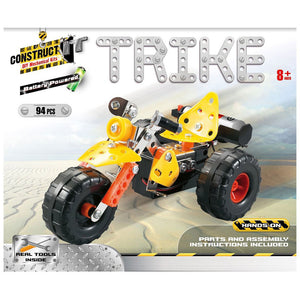 Construct-It DIY Mechanical Kits - Battery Powered Trike