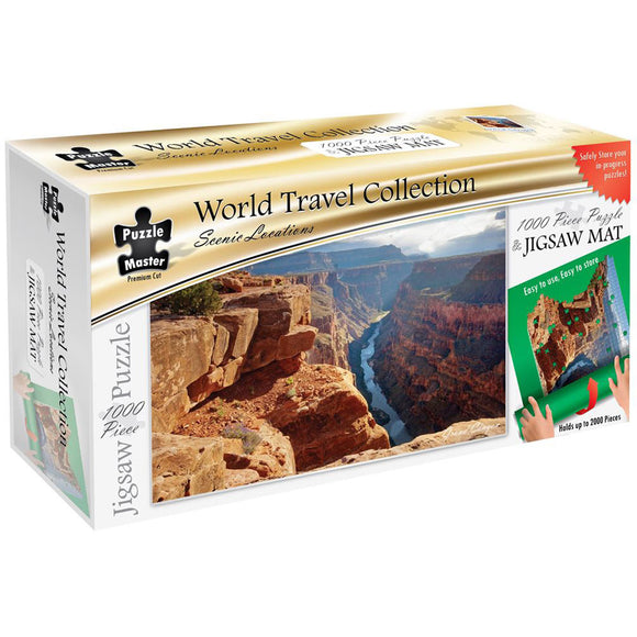 Puzzle Master Scenic Locations 1000 Piece Puzzle with Puzzle Mat - Grand Canyon