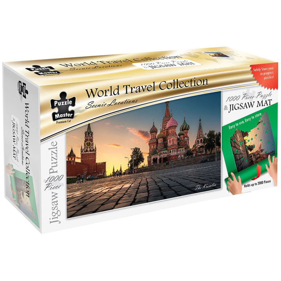 Puzzle Master Scenic Locations 1000 Piece Puzzle with Puzzle Mat - The Kremlin