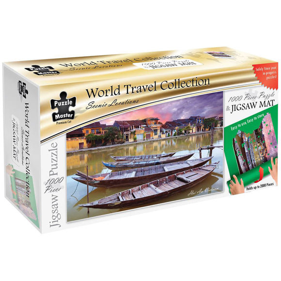 Puzzle Master Scenic Locations 1000 Piece Puzzle with Puzzle Mat - Hoi An Vietnam