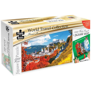 Puzzle Master Scenic Locations 1000 Piece Puzzle with Puzzle Mat - Salzburg
