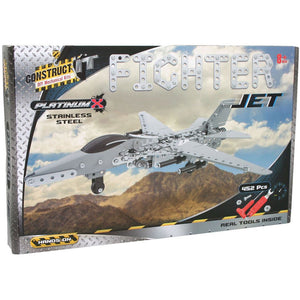 Construct-It DIY Mechanical Kits - Platinum X Fighter Jet
