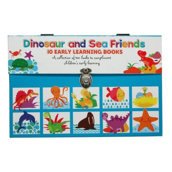 Dinosaur and Sea Friends Early Learning 10 Book Carry Case Set