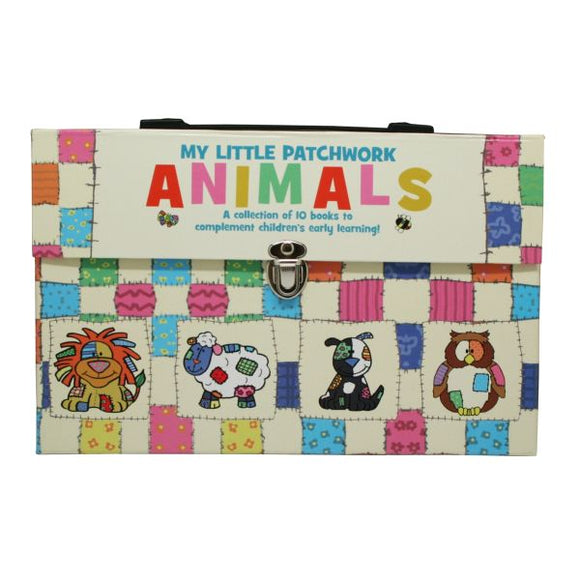 My Little Patchwork Animals Early Learning 10 Book Carry Case Set