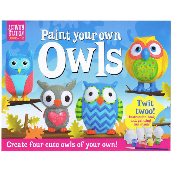 Top That Paint Your Own Owls Activity Station Book + Kit