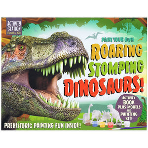 Top That Paint Your Own Roaring Stomping Dinosaurs Activity Station Book + Kit