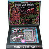 Top That Scratch Art Unicorns Activity Station Book + Kit