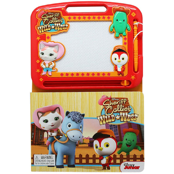 Disney Junior Sheriff Callie's Wild West - Learning Book with Magnetic Drawing Pad
