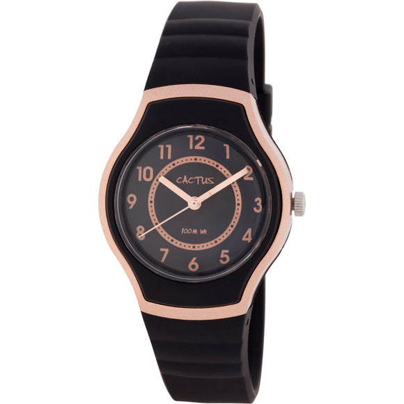 Cactus Sunset Waterproof Watch - Black/Rose Gold