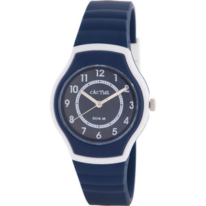 Cactus Sunset Waterproof Watch - Navy Blue/White