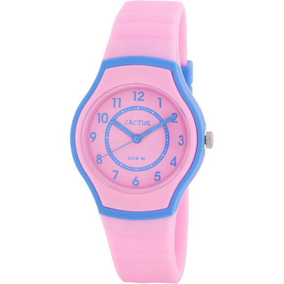 Cactus Sunset Waterproof Watch - Pink/Blue
