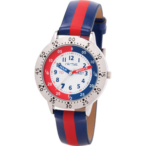 Cactus Time Teacher Watch - Navy/Red