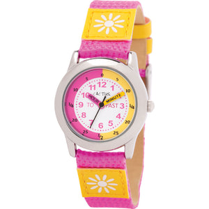 Cactus Time Teacher Watch - Pink/Yellow