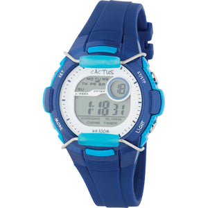 Cactus 100m Water Resistant LCD Watch - Blue/Aqua