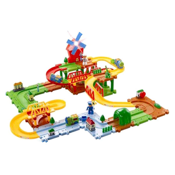 Battery Operated Little Car Track Playset with Music