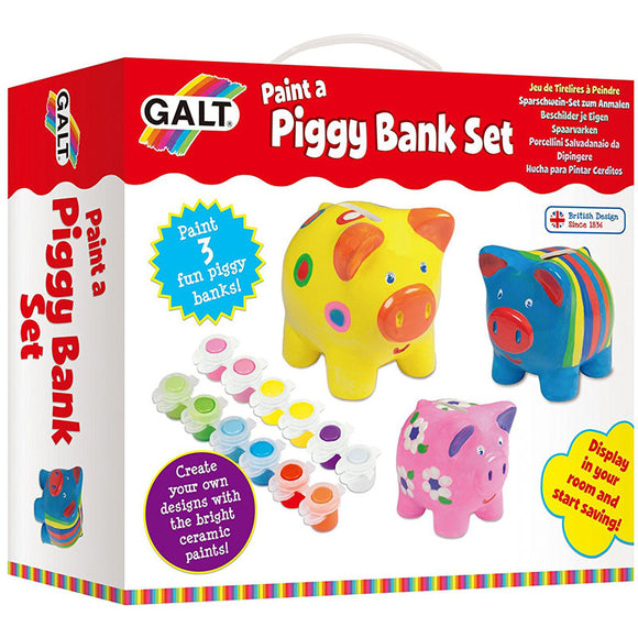 Galt Paint a Piggy Bank Set