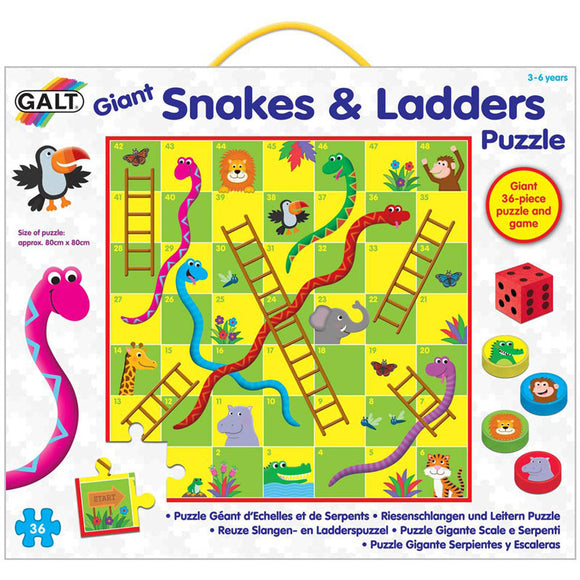 Galt Giant Snakes And Ladders Puzzle 36pcs