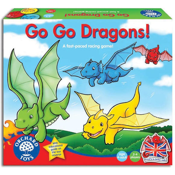 Orchard Toys Go Go Dragons Fast-Paced Racing Game