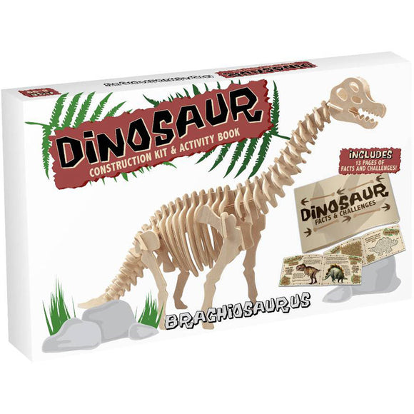 Professor Puzzle Dinosaur Construction Kit & Activity Book: Brachiosaurus