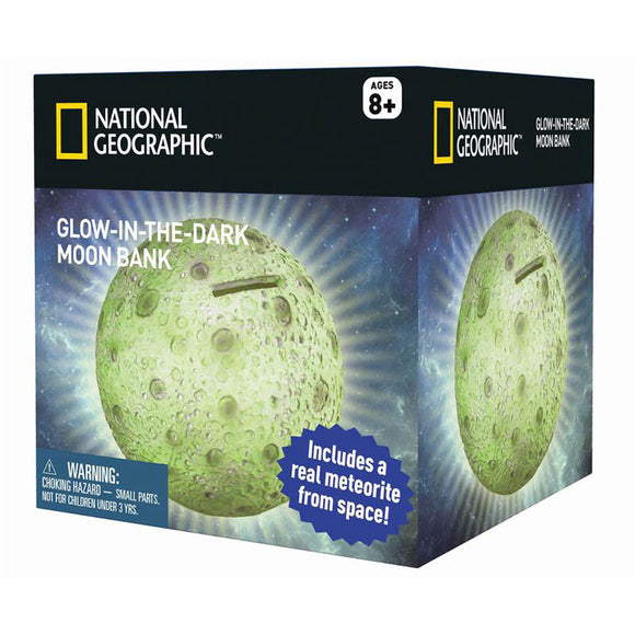 National Geographic Glow in the Dark Moon Money Bank