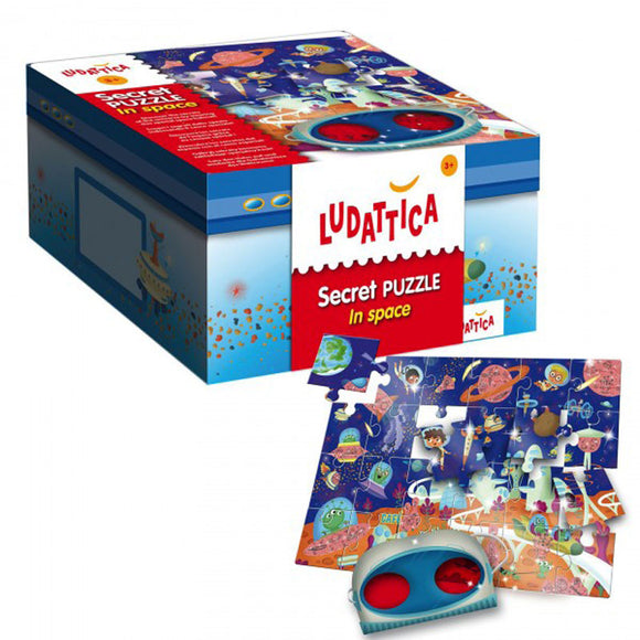 Lisciani Ludattica Secret Puzzle In Space 24pcs