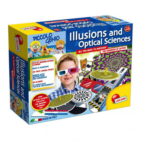 Lisciani Science Piccolo Genio Illusions and Optical Sciences