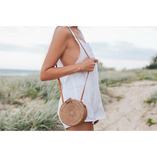 Handmade Straw Circle Bag - Modern Hippi