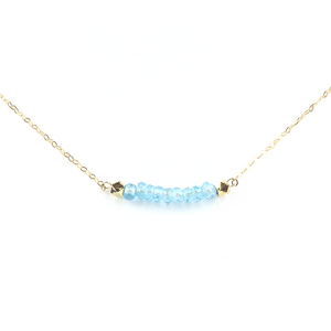 Blue Topaz Rondelle Necklace - Modern Hippi