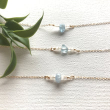 Load image into Gallery viewer, Aquamarine and moonstone necklace - Modern Hippi