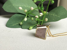 Load image into Gallery viewer, Rose Quartz Diamond Pendant - Modern Hippi