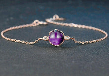 Load image into Gallery viewer, Natural Roundness Purple Amethys Bracelet - Modern Hippi