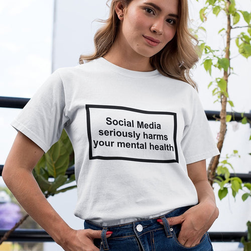 Social Media Seriously Harms Your Mental T-shirt - Modern Hippi
