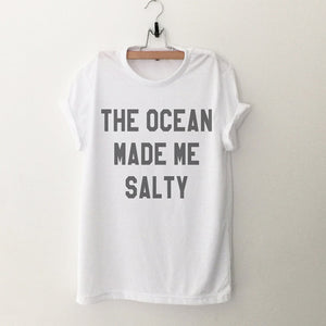 The Ocean Made Me Salty Graphic Tee - Modern Hippi