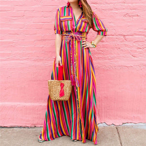 Bohemian Long Maxi Dress - Modern Hippi