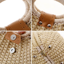 Load image into Gallery viewer, Women Straw Bag Snail's Nest Female Beach Tote - Modern Hippi