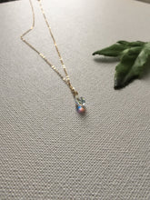 Load image into Gallery viewer, mermaid tear necklace, swarovski crystal necklace,  Layering Necklace, gift for her, Everyday Jewelry, Simple Necklace, - Modern Hippi