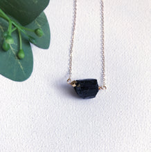 Load image into Gallery viewer, Raw Black Tourmaline Necklace - Modern Hippi