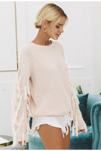Load image into Gallery viewer, Tassel Pullover Sweater - Modern Hippi