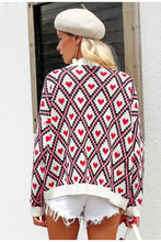 Load image into Gallery viewer, Christmas print  knitted cardigan - Modern Hippi