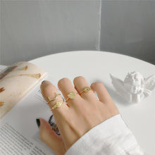 Load image into Gallery viewer, Crescent Moon Vermeil Gold Ring - Modern Hippi