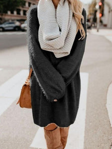 Oversized Loose Cozy Sweater Dress
