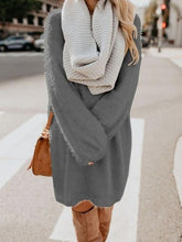 Load image into Gallery viewer, Oversized Loose Cozy Sweater Dress