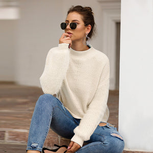 Powder Blue Casual Knitted sweater