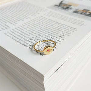 Compass Vermeil Gold Ring