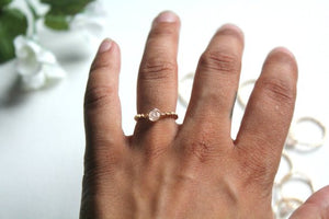 Rose Quartz Ring - Modern Hippi