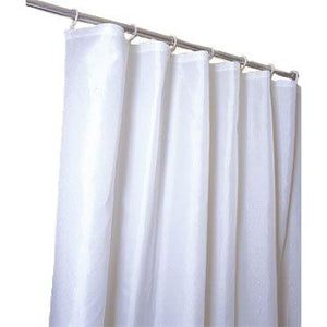 Simple White Nylon Shower Curtain/liner