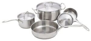 7 Pc Stainless Steel Cookware