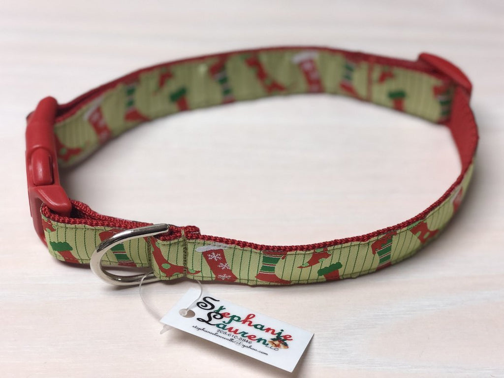 Holiday Designer Dog Collars - Large