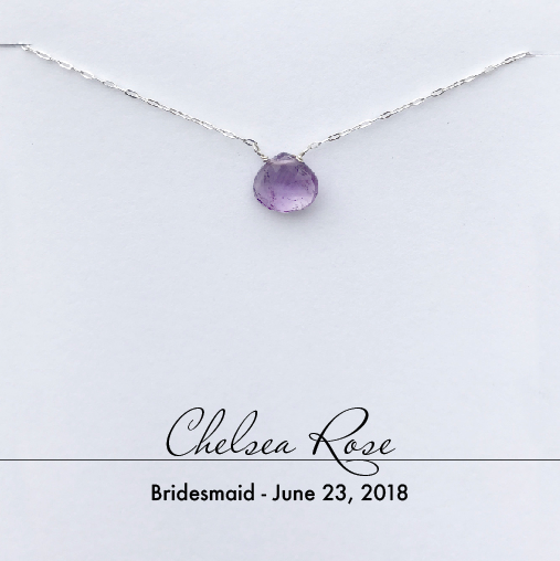 Bridal Amethyst Necklace