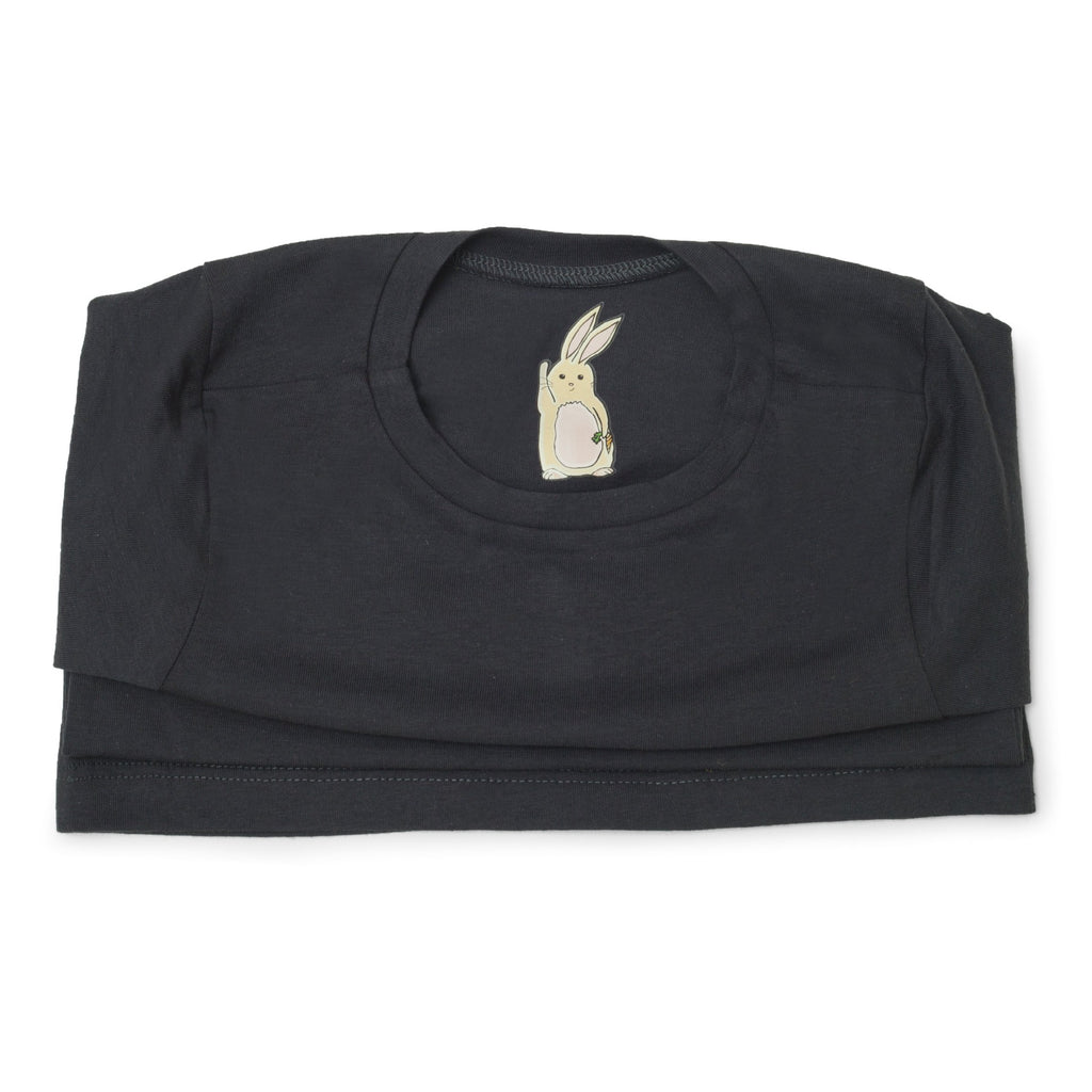 Me Do. Learn-to-Dress Grey Tee Shirt Interior Front